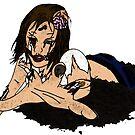 Zombie Girl by kittenofdeath