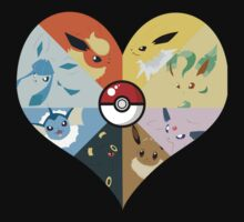 I love you Eevees! by novawhitefire