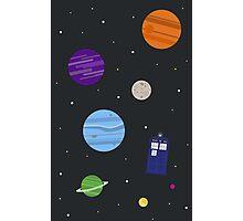 TARDIS In Space Photographic Print