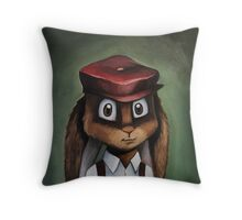 Timothy 'Button' Rabbit Throw Pillow