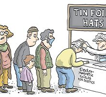 Tin Foil Hat Society by MacKaycartoons