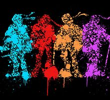 TMNT Group Color Splatter digital by justin13art