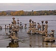 Rock Sculptures in the Ottawa RIver, Ottawa, ON Photographic Print