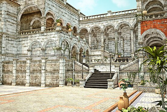 Neoclassical Courtyard by Liam Liberty