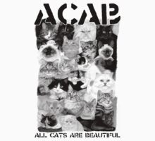 ACAB - All Cats Are Beautiful Collage Shirt by fleshandbone