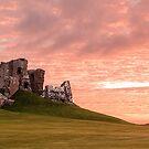 Duffus Castle Sunset by OpalFire
