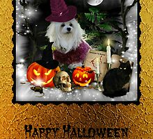 Happy Halloween Card by Morag Bates