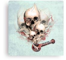 Faded Youth Smoke skulls. Metal Print