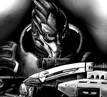Garrus Vakarian Fan Art by PandorasEncore
