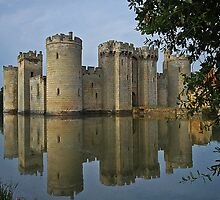 Reflections of Bodiam Castle by Judi Lion