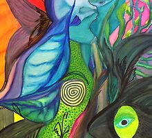 Abstract Art: Magic in The Forest by Nadine Staaf