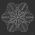 Butterfly Mandala Print - White Design by TheMandalaLady