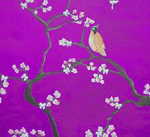 Blossom - Purple Bird by Ali Close