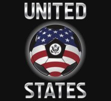 United States - American Flag - Football or Soccer Ball & Text by graphix