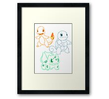 Starter Pokemon Framed Print