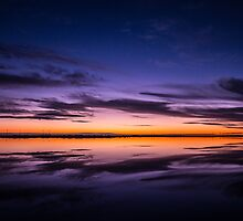Sunset over the salt plains, Adelaide by Maretta Emily Photography