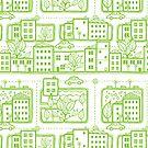 City streets pattern by oksancia