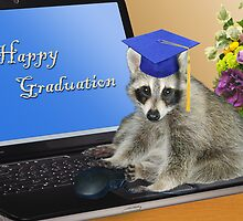 Happy Graduation Raccoon by jkartlife