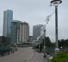 Pedestrian Bridge -Memorial Tree Flags by Navigator