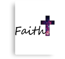 Faith- Galaxy Cross Canvas Print
