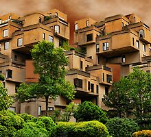 ?????HABITAT 67 MONTREAL ,CANADA,ARCHITECTURAL LANDMARK-VERSION TWO ????? by ✿✿ Bonita ✿✿ ђєℓℓσ