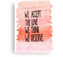 The Perks Of Being A Wallflower- Quotes Canvas Print
