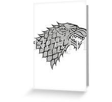King in the North Greeting Card