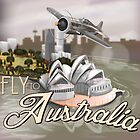 Fly To Australia  by Nick  Greenaway