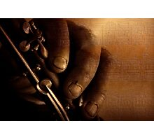 Clarinet Musician Photographic Print