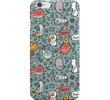 doodle birds pattern iPhone Case/Skin