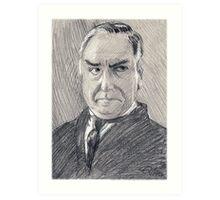 Charles Carson of Downton Abbey Art Print
