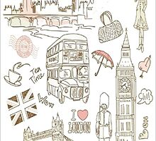 London Scribble by Deborah  Stormborn