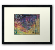 Lost for Words - August 2014 Framed Print