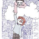Hang in There - Angel Holding up Spencer Reid by Abatashi