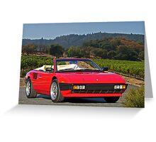 1985 Ferrari Mondial Cabriolet I Greeting Card