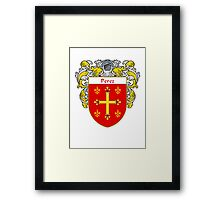 Perez Coat of Arms/Family Crest Framed Print