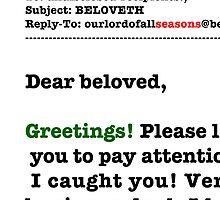 Seasons Greetings Spam Christmas Card by LowHumour