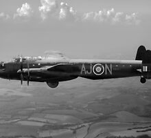 Dambusters Lancaster AJ-N black and white version by Gary Eason + Flight Artworks