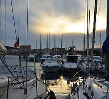 Lavandou international marina in the evening sun at the french Riviera by 7horses