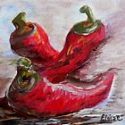 Poppin' Peppers by EloiseArt