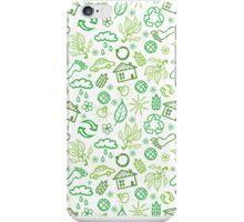 Eco symbols line art pattern iPhone Case/Skin