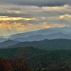 Blue Ridge Parkway sunset panoramic by dc witmer