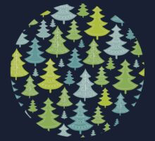 Decorative Christmas Trees Pattern Kids Clothes
