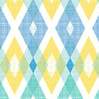Fabric textured argyle pattern by oksancia