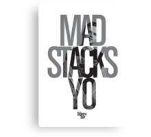 Mad Stacks Yo Canvas Print
