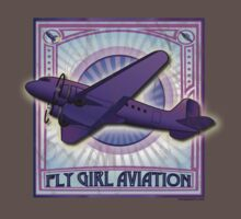 FLY GIRL AVIATION VINTAGE AIRPLANE GEAR Kids Clothes