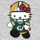 Hello Kitty Loves The Green Bay Packers! by endlessimages