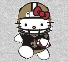 Hello Kitty Loves The New Orleans Saints! by endlessimages