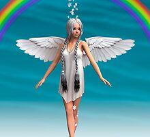 Angel under the Rainbow  by Vac1