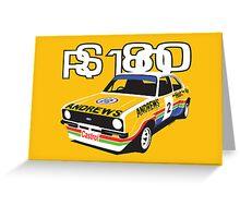 Ford Escort Mk2 Rally Car Greeting Card